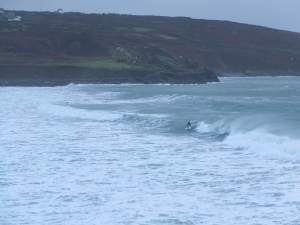 New Years Day surfer braving the cold
