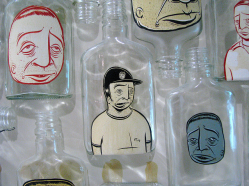 Barry-McGee-Liquor-Bottles-e1345724510483.png